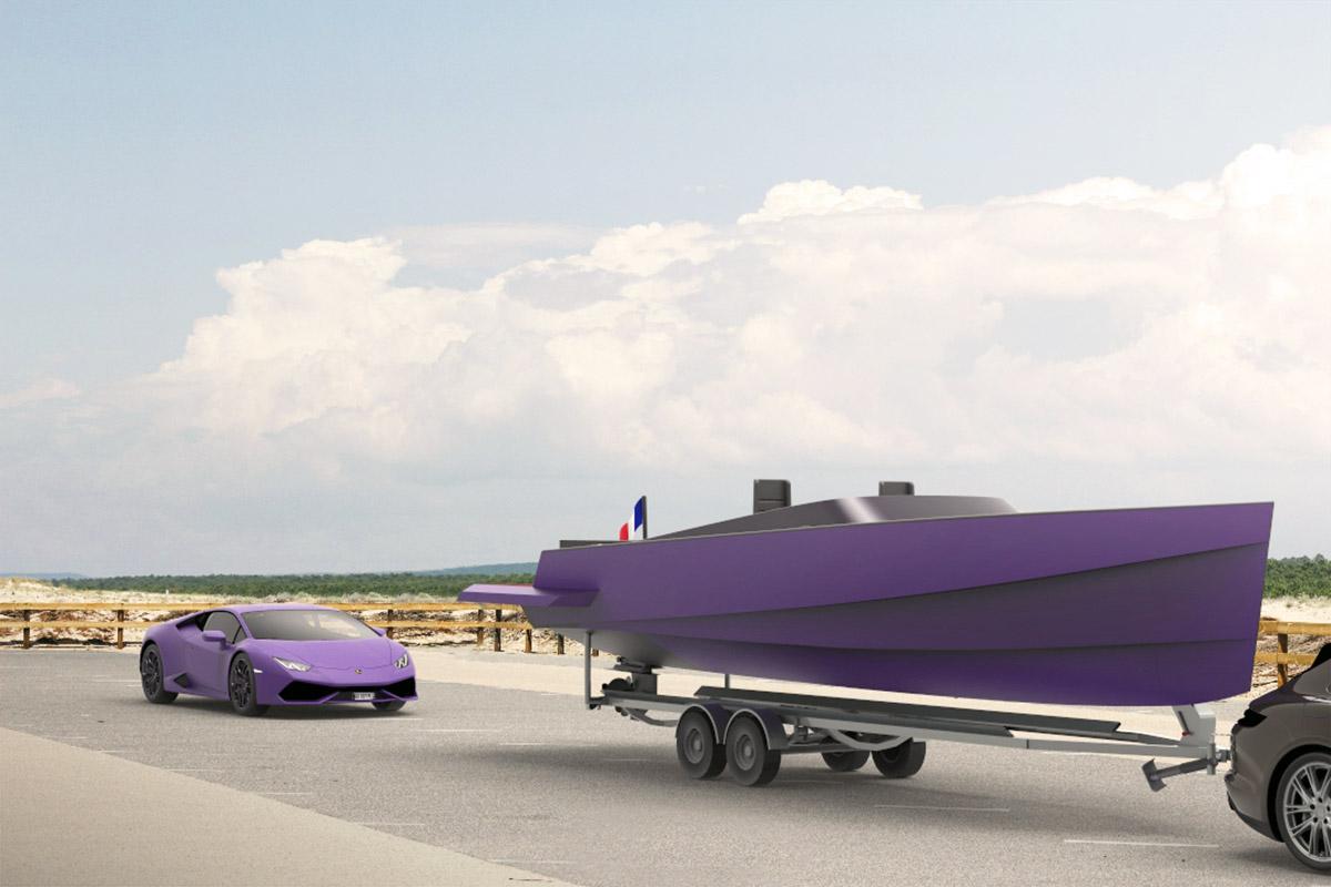 Lamborghini Huracan yacht par Matthieu Coin